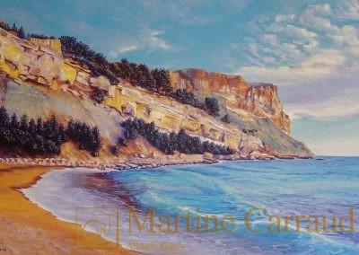 CANAILLE - . Tableau 100 x 65 cm.Peinture huile sur toile.Cassis Méditerranée.2018.Martine Carraud artiste peintre