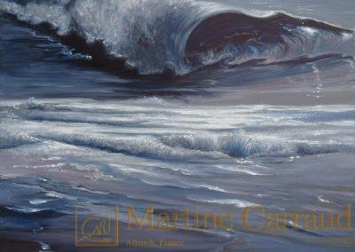 Conque-Paysage marin-Mer Méditerranée-Tableau 80x60cm. peinture à l_huile sur toile.2016.Martine Carraud artiste peintre