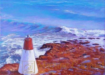 LE PAIN DE SUCRE. Baie de Marseille. Tableau 30 x 30 cm .Peinture à l'huile sur toile 2015 .Carry le Rouet. Martine Carraud artiste peintre