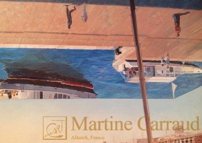 OMBRIERE - .Tableau 80 x 60 cm Peinture à l'huile sur toile 2014_ Marseille. Martine Carraud artiste peintre